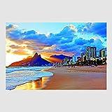 Homedeco-24 Kunstdruck Poster - Rio de Janeiro Beach Strand