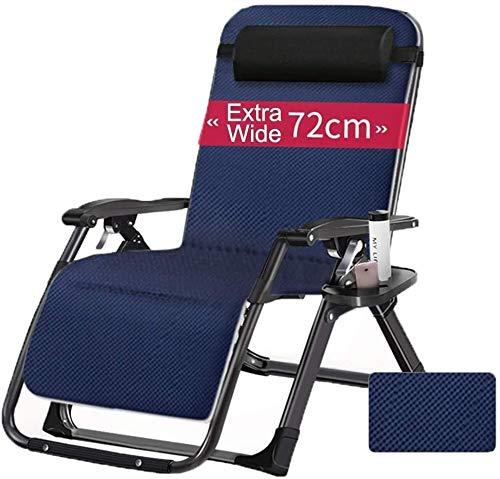 ADHW - Sillón reclinable, reclinable, con soporte para taza y teléfono, sillón balancín portátil