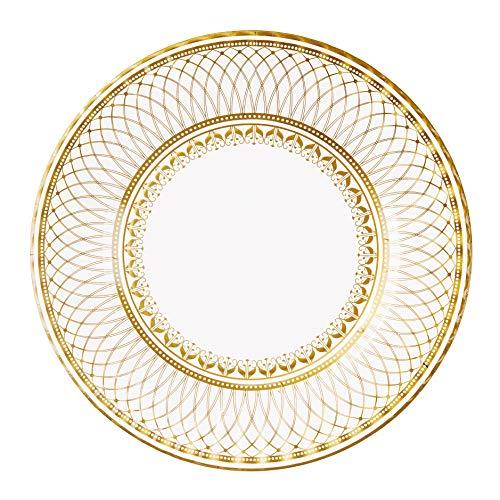 Talking Tables Piatti di Carta per Feste, Colore: Oro, Misura Grande, 27 cm, Confezione da 8, Porcellana, 24.55x2.27x24.55 cm