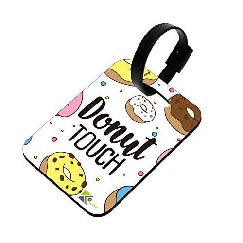 LT072 Donut Touch Novelty Funny Unique Designer Gift Glossy MDF Wooden Suitcase Luggage Tag