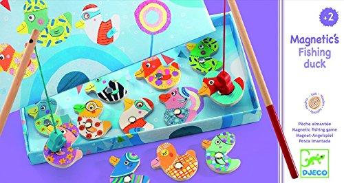Djeco DJ01654 Magnetyczne Wedkowanie Kaczki Multicolore