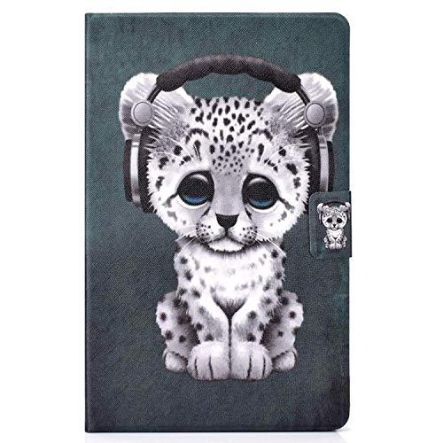 Lspcase Custodia Portafoglio per Samsung Galaxy Tab E 9.6 Pollice SM-T560 / T561 Smart Cover a Libro Pellicola Simil Pelle Chiusura Magnetica e Carte di Slot Flip Cover Baby Leopard