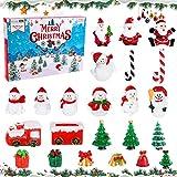 FORMIZON Calendario de Adviento de 2021, Mini Adornos Navideños de Resina, Cuenta Regresiva de Navidad de 24 Días, Adornos en Miniatura de Navidad Regalo Navidad Niños y Niñas