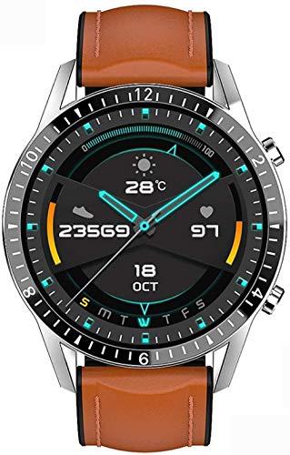 JSL 2020 nueva marca de lujo hombres s reloj banda de acero fitness reloj ritmo cardíaco presión arterial actividad tracker reloj inteligente para hombres naranja-marrón