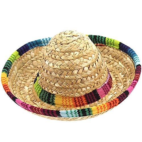 ACAMPTAR Hundehut, Strohhut, mexikanische Hüte, Partyhüte für kleine Haustiere/Welpen/Katze