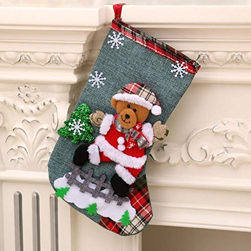 LLAAIT Kerstmis Stocking Cadeauhouders Grote grootte Vakantie Kerstmis Stocking Cadeaus Kerstmis Sokken Open haard Decoraties