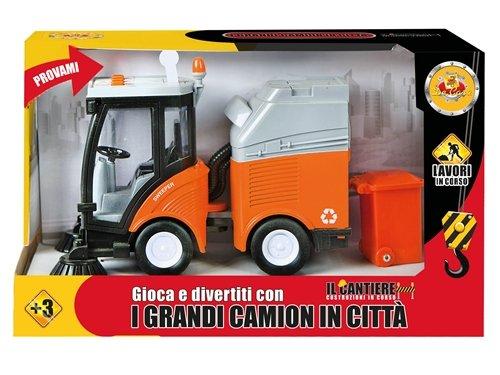 DE. CAR Camion Pulisci Strade B/O Luci E Suoni H18 X L 30 Cm