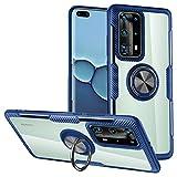 WATACHE Huawei P40 Pro Case, Clear Crystal Carbon Fiber