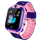 Phyulls Kids Waterproof Smart Watch Phone, GPS/LBS Tracker Smart Watch for Kids for 3-12 Year Old Compatible iOS Android Smart Watch Christmas Birthday Gifts for Kids(Excluding SIM Card)