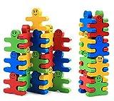pulchram bloques de construcción juguetes 16 piezas creativo rompecabezas de madera favores de fiesta suministros para niños