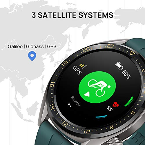 Huawei Watch GT Active Smartwatch (46 mm Amoled Touchscreen, GPS, Fitness Tracker, Herzfrequenzmessung, 5 ATM wasserdicht) Dunkelgrün - 6