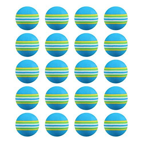 WINOMO - 20 bolas de espuma para practicar en el interior o en el interior, para principiantes, niños y aficionados (azul)
