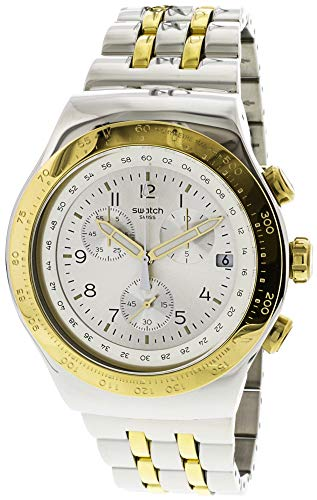 Swatch Live My Time YOS458G Reloj de cuarzo suizo de acero inoxidable plateado para hombre