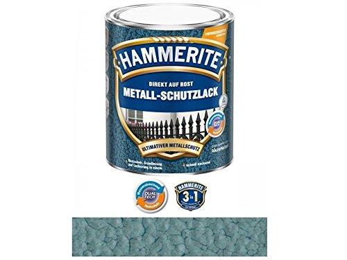750 ml Hammerite Direkt auf Rost Metall-Schutzlack Metallblau, Hammerschlag