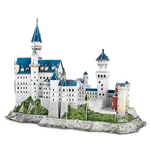 CubicFun - Puzzle 3D Castillo de Neuschwanstein Schwangau Alemania, 121 piezas (MC062H)