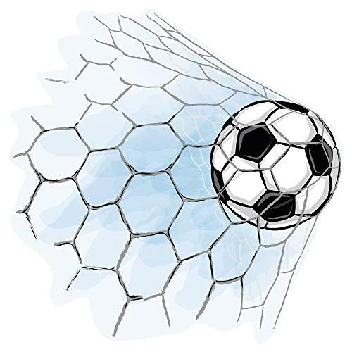 dekodino® Wandtattoo Fußball Fußballtor Jugendzimmer Teenager Junge Dekoration