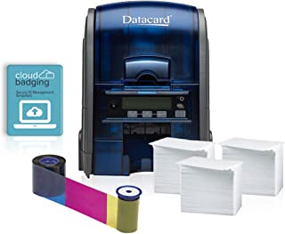 Datacard SD160 Single-Sided Printer ID Card Printer & Complete Supplies Package with CloudBadging Software