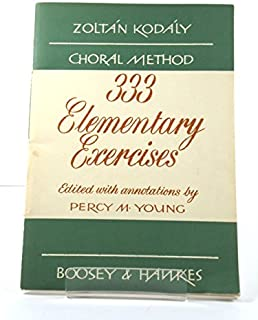 Choral Method: 333 Elementary Exercises in Sight Singing