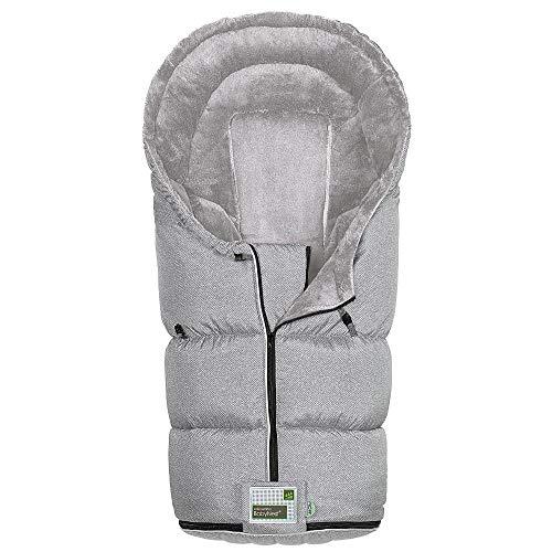 Odenwälder BabyNest Fußsack Lo-Go fashion | 12384-1078 | passend für alle Kinderwagen und Buggy | new woven soft grey