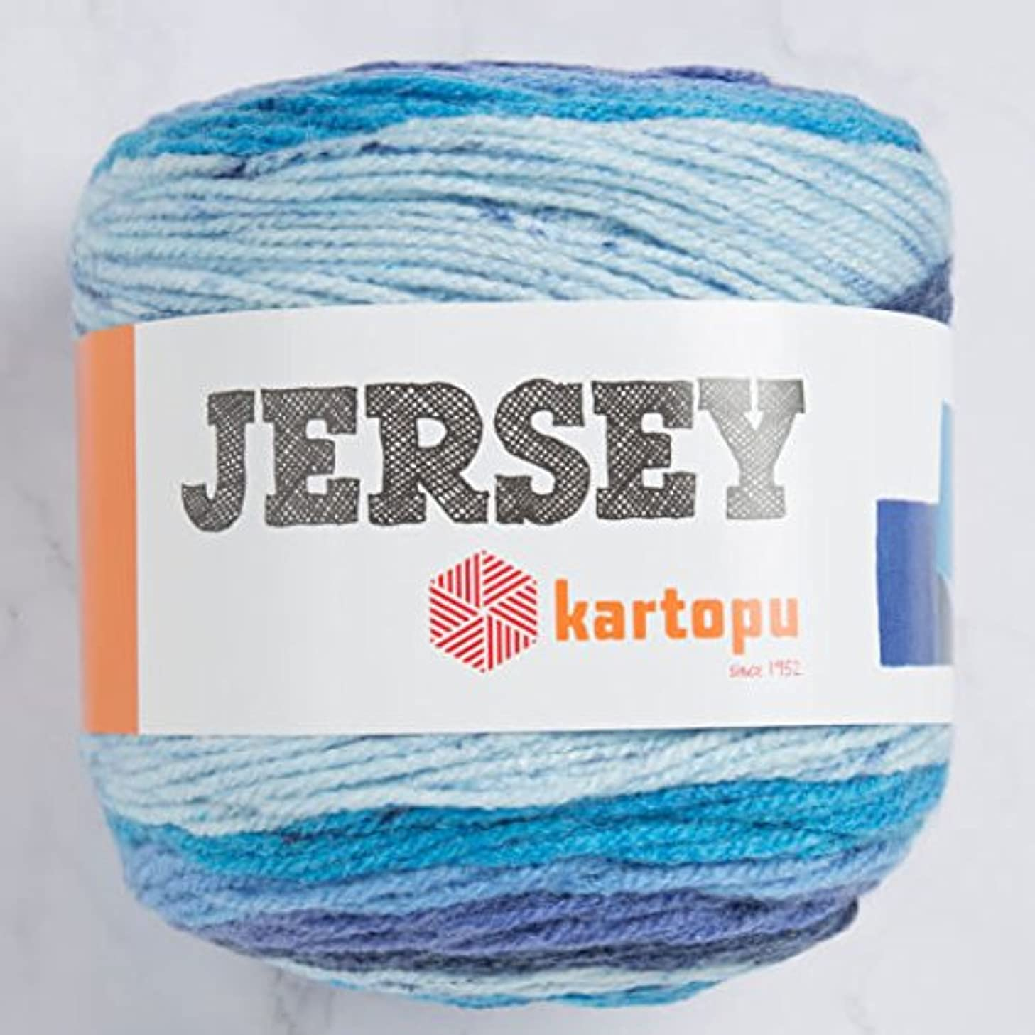 Kartopu Jersey Multi-Colored Cake Yarn 7.1 Oz (200g) / 394 Yrds (360m) Soft, Medium-Worsted Wool Yarn, 20% Turkish Wool - H1400