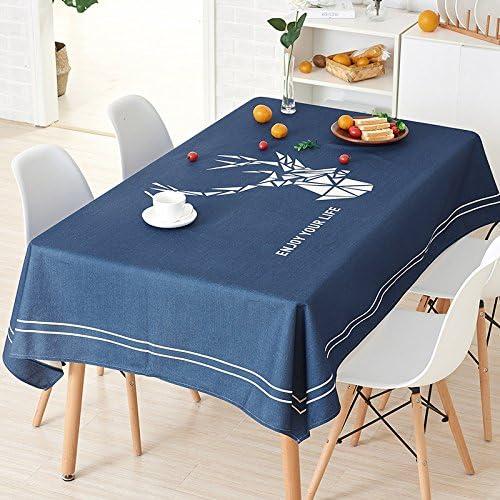 WAZY Nordique Minimaliste Nappes Coton Et Lin Tissus Matériaux Maison à Manger Table Tissu voitureré Table Couverture 55.1  78.7 pouces (Couleur   F)