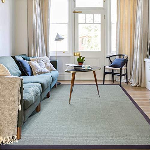 ZJJ-X Tappeto in sisal Naturale Resistente all'Usura, Paglia in Stile Nordico. Tavolino da Salotto (Color : Gray, Size : 250x350CM)