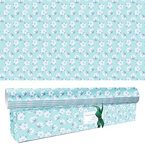 SCENTORINI Bolsas perfumadas para cajón, papel perfumado, fragancia para el hogar y el interior, paquete de 6 hojas de 42 x 58 cm, algodón