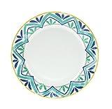 Tognana Olimpia Alhambra - Juego de 6 Platos Llanos, Porcelana, Multicolor, 6 Unidades