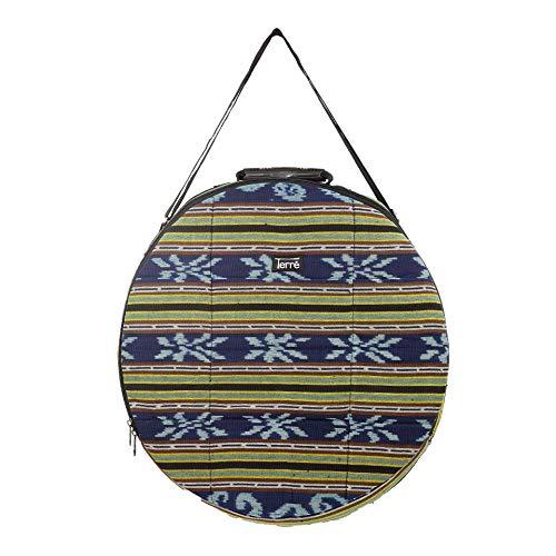 Shamandrum Tasche aus Ikat Ø 50 cm für Schamanentrommel Rahmentrommel - im MYSEVENDO Set - Rund Ritual Drum Trageriemen