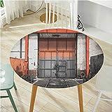 Mantel redondo de diámetro de 60 pulgadas (borde elástico) impreso mantel industrial