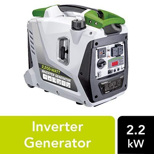 POWERSMITH PGA2200i 2.2kW Digital Inverter Generator - 2,200 Surge Watts, 1,700 Rated Watts - Parallel Ready - Digital Dashboard - Ultra-Portable: Telescoping Handle, Dual Rear Wheels