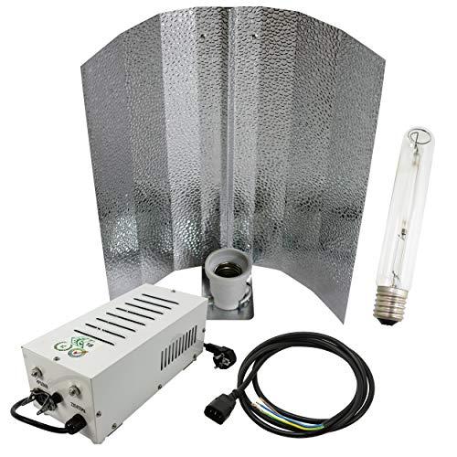 Cultivalley 250W Grow-Set, Profi Pflanzenbeleuchtung, Plug & Play Bausatz mit NDL Natriumhochdruck-Leuchtmittel Blüte HPS, Pflanzenlicht
