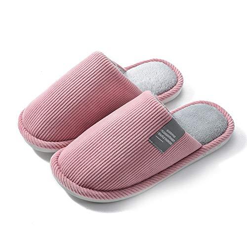 Zapatillas De Algodón,Moda Creatividad Mujer Invierno Navidad Grueso Inferior Cuadrado Letrero Rosa...