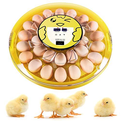 Couveuse Incubateur Automatique pour 30 œufs avec Rotation Automatique des œufs, Contrôle de la Température, Incubateurs pour œufs, œufs de Canard, œufs de Caille, etc.