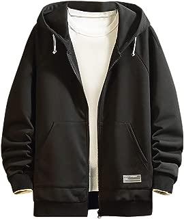 Coat Beautyfine Men's Sweatershirt Casual Printing Patchwork Hoodie Long Sleeves Sport Tops