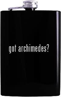 got archimedes? - 8oz Hip Alcohol Drinking Flask, Black