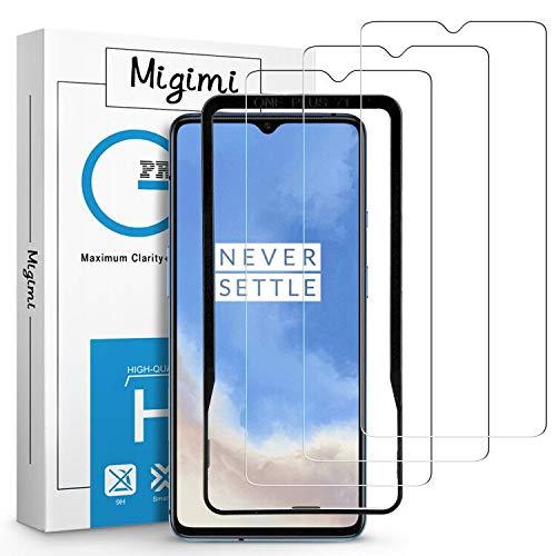 Migimi Panzerglas für OnePlus 7T, [3 Stück] Schutzfolie mit Positionierhilfe 9H Festigkeit Ultra-HD Panzerglasfolie, Anti-Kratzen, Blasenfrei Gehärtetes Glas Bildschirmschutzfolie für OnePlus 7T