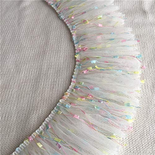 HONGWEINC 2Yards sale 10CM Wide San Diego Mall Luxury White Fab Veil 3D Tassel Lace