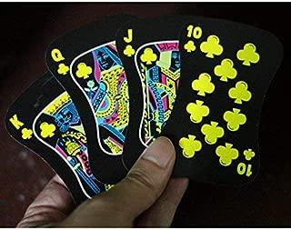 Gentlecarin 54pcs Waterproof Plastic Poker Magic Playing Card Sets for Travel Swimming