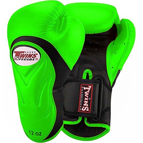 Twins Boxhandschuhe, Premium, BGVL-6, grün-schwarz Size 10 Oz