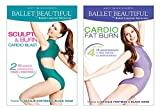Ballet Beautiful Workout DVD 2 Pack - Sculpt & Burn Blast and Cardio Fat Burn. Mary Helen Bowers Barre Dance Inspired Fitness DVD Bundle