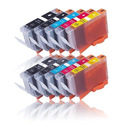 Cenado 10 Druckerpatronen kompatibel für Canon PGI-525 CLI-526 für Pixma IP4850 IP4950 IX6550 MG5150 MG5250 MG5350 MG6150 MG6250 MG8150 MG8250 MX710