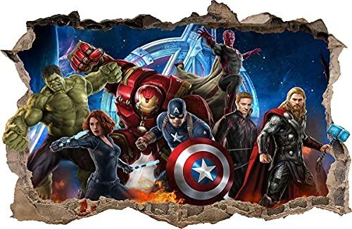 Wall Graphics Pegatinas de Pared Agujero en la Pared Vengadores Avengers Adhesivo Decorativo de Pared 76 (XXL - 115 x 75 cm)