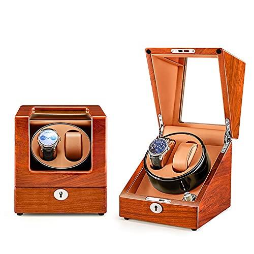 ZCXBHD Caja de reloj con 2 espacios, 5 modos de rotación, motor silencioso con almohadas suaves y flexibles para reloj universal para señoras y hombres