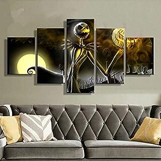 A/X canvas prints muurkunst schilderijen 5 stuks Hallowmas Jack Skellington schilderijen woonkamer decoratie albdroom voor...