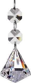 Fushing 20Pcs Crystal Chandelier Prisms Pendants Balls Suncatchers Crystal Garland Beads (30mm, Clear)
