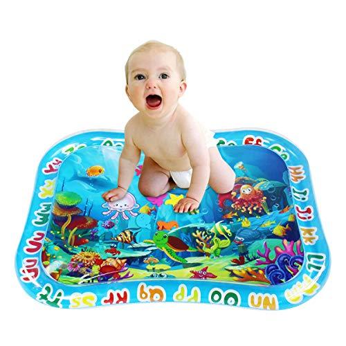 Shangle-Sunshine Tummy Time Baby Water Play Mat per neonati e bambini, tappetino gonfiabile per giocare a pancia, tappetino per lo sviluppo sensoriale e la crescita della stimolazione. Senza BPA