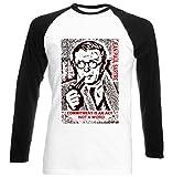 Photo de teesquare1st Men's Jean Paul Sartre Commitment Quote Black Long Sleeved T-Shirt Size XXLarge par