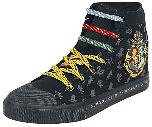 Harry Potter Hogwarts Frauen Sneaker high schwarz EU40 Textil, Gummisohle Fan-Merch, Film, Hogwarts