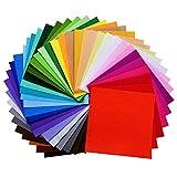 moinkerin 40 Piezas Comprar Fieltro Manualidades Hojas de Fieltro Telas para Coser para Costura y Artesanías de Bricolaje (30 * 30 cm)